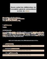 Procès-verbal de l'assemblée générale pour une liquidation judiciaire