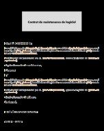 Contrat de maintenance de logiciel