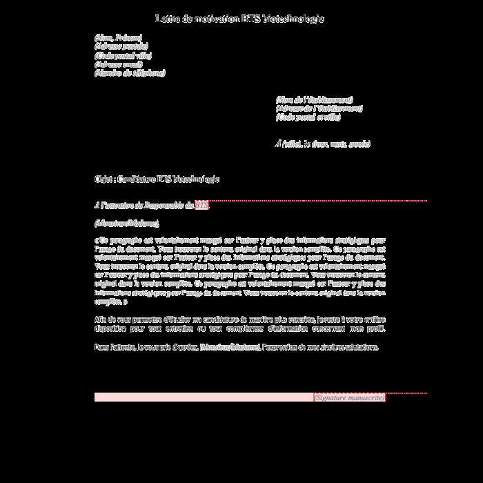 Lettre De Motivation Bts Maintenance Industrielle Alternance Modele De Lettre
