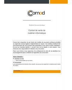 Contrat de cession d'une base de données d'un site internet
