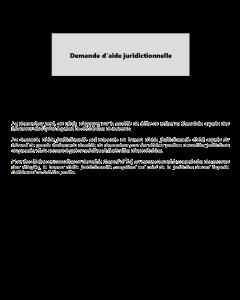 Demande d'aide juridictionnelle
