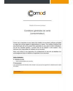 Conditions générales de vente (consommateur)