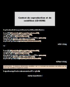 Contrat de coproduction (CD Rom)
