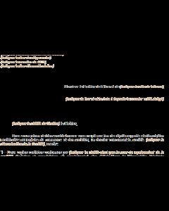 Lettre au greffe (Dépôt pour inscription modificative d'une société au registre du commerce et des sociétés)