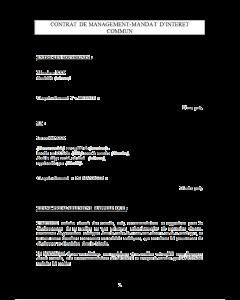 Contrat de management pour artiste généraliste