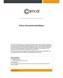 Contrat d'audit informatique